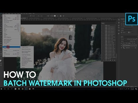 How To Batch Watermark In Photoshop
