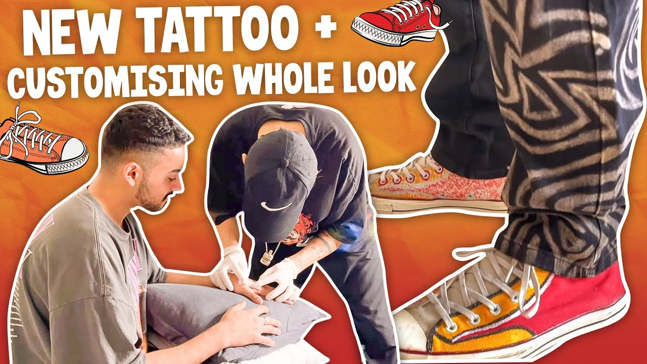 GOT A NEW TATTOO + CUSTOMISING A WHOLE LOOK!