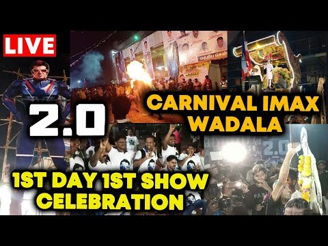 2.0 Movie   Fans Celebration Carnival IMAX Wadala   रथ यात्रा, दूध अभिषेक, ढोल तशा   Rajni   Akshay