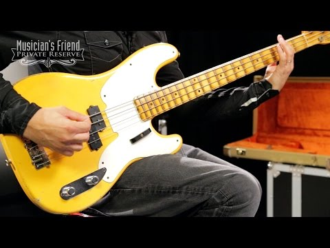 Fender Custom Shop 1955 Precision Bass Relic Masterbuilt by John Cruz, Nocaster Blonde
