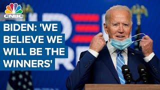 Joe Biden: 'We believe we will be the winners'