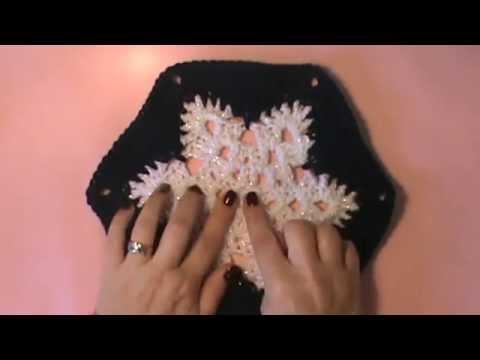 Snowflake Afghan Video 1 Of 2 Snowflake Motif Youtube