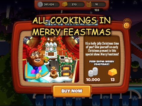 All Cookings In Merry Feastmas (Cooking Dash 2016)