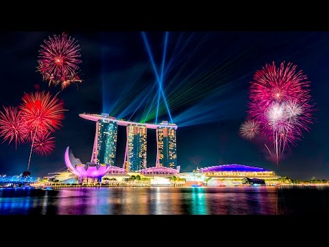 a happy new year 2016 singapore fireworks marina bay sands
