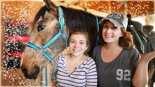 SISTER TEACHES ME TO RIDE A HORSE! (W/ Missy!) // SoCassie