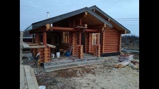 Баня из бруса с барбекю (фото и видео)