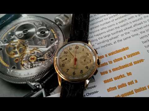 1950s Vintage Chronograph  ,  Chronographe Suisse .