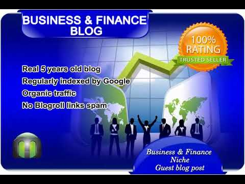 Write and guest post on business and finance blog