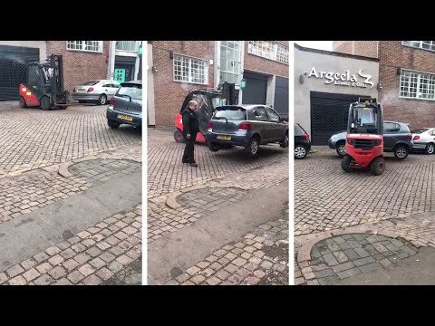 Problem Car Moved With Forklift