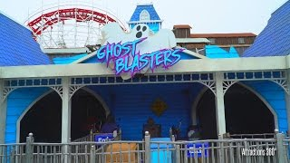 [4K] Ghost Blasters An Interactive, Black Light Dark Ride at Santa Cruz Beach Boardwalk