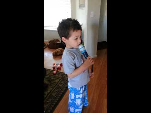 3 year old singing along to mumford and sons!