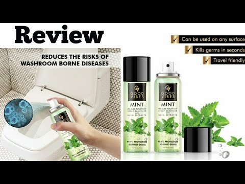 Good Vibes PEE-SURE Toilet Seat Spray SANITIZER Review,must have Essential for Personal Hygiene ||