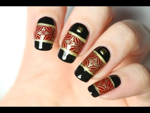 Nail art chic : stamping et striping tape