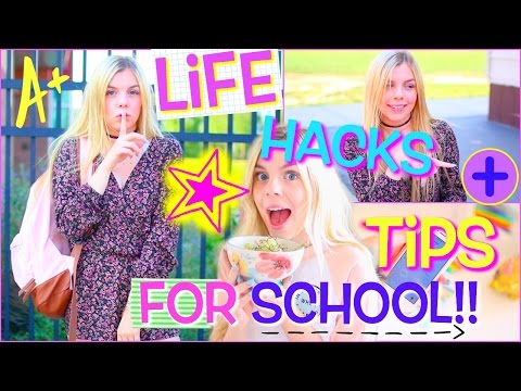 Back to School Life Hacks EVERYONE Should Know! + Study Tips for School!