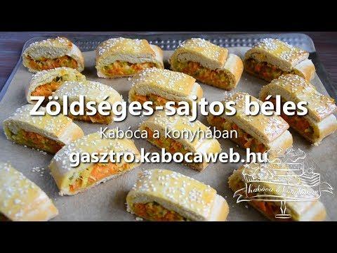 Zöldséges sajtos béles recept videó - Kabóca a konyhában letöltés