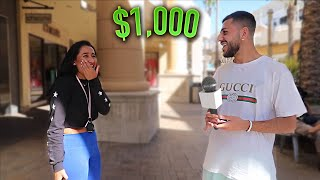 Asking RANDOM STRANGERS Trivia Questions for $1,000! *Kicked Out By Security ON CAMERA*