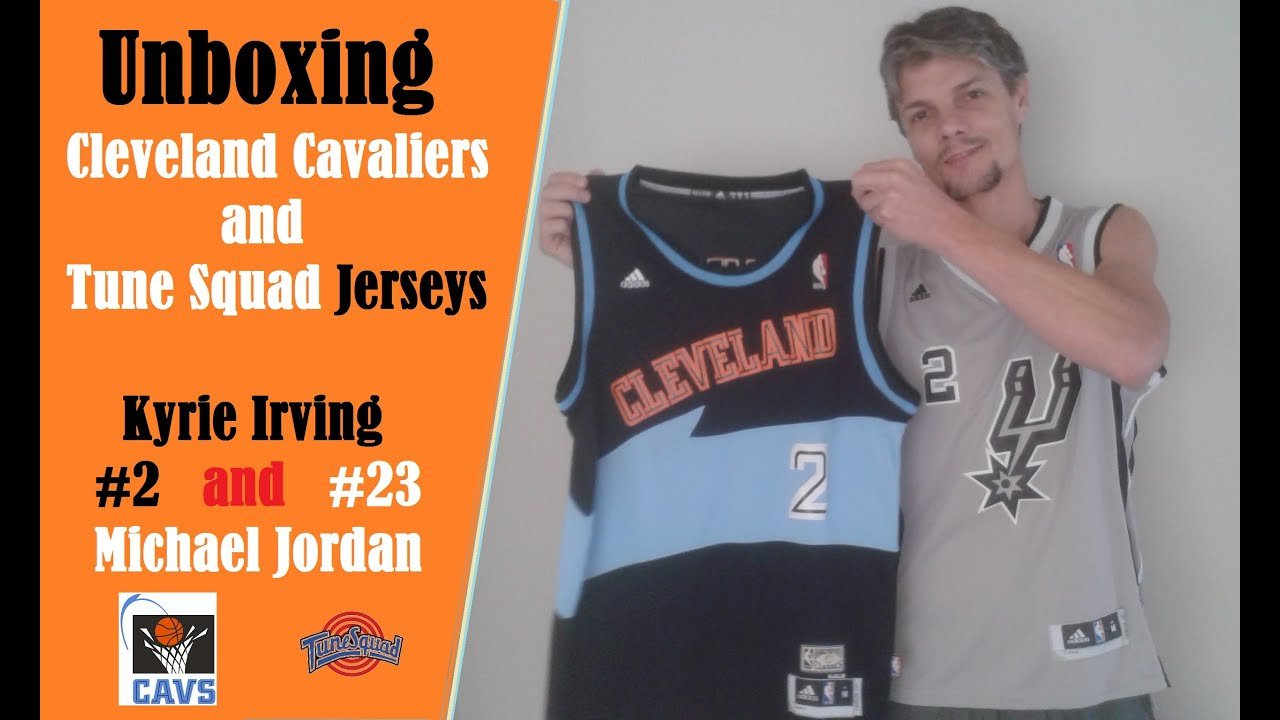 wholesale dealer 3caa6 617fa Unboxing - Cavaliers Jersey K. Irving | Tune Squad Jersey Michael Jordan