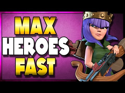 Upgrade Heroes FAST | NEW POWER Farming Guide | AQ Walk Miner | Clash Of Clans