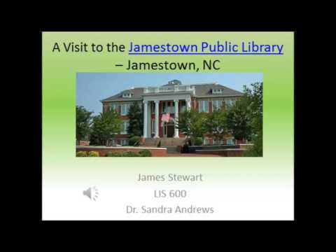 Visit To The Jamestown Public Library