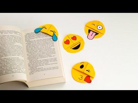 How to Make Easy Emoji Corner Bookmarks