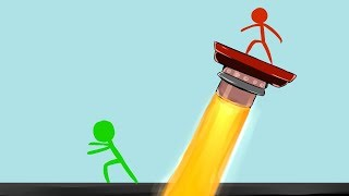 QUEM CONSEGUE FUGIR DO LASER?! (STICKMAN FIGHTER)