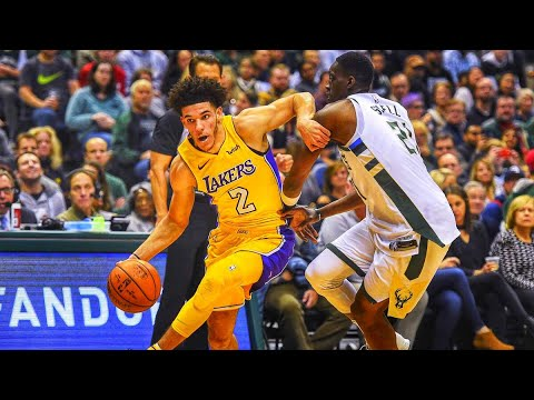 Lonzo Ball becomes Youngest Player to get a Triple-Double in NBA History-Lakers vs Bucks-NBA 2017-2