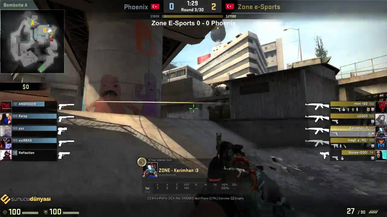 Multiplayer CS:GO Türkiye Şampiyonası Çeyrek Final Maçı Zone E-Sports vs Phoenix