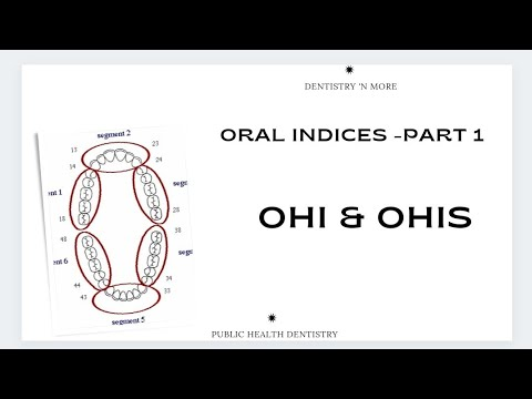 DENTAL INDICES - OHI& OHI-S(PART 1)