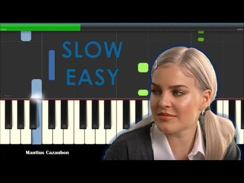 Anne-Marie 2002 Slow Easy Piano Tutorial - How To Play