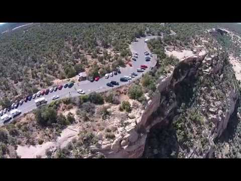 Now Banned - Drone footage from Mesa Verde and cliff dwellings - Balcony House area