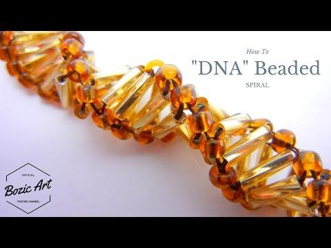 """""""DNA"""" Spiral - Beaded Bracelet   Beading Tutorial"""