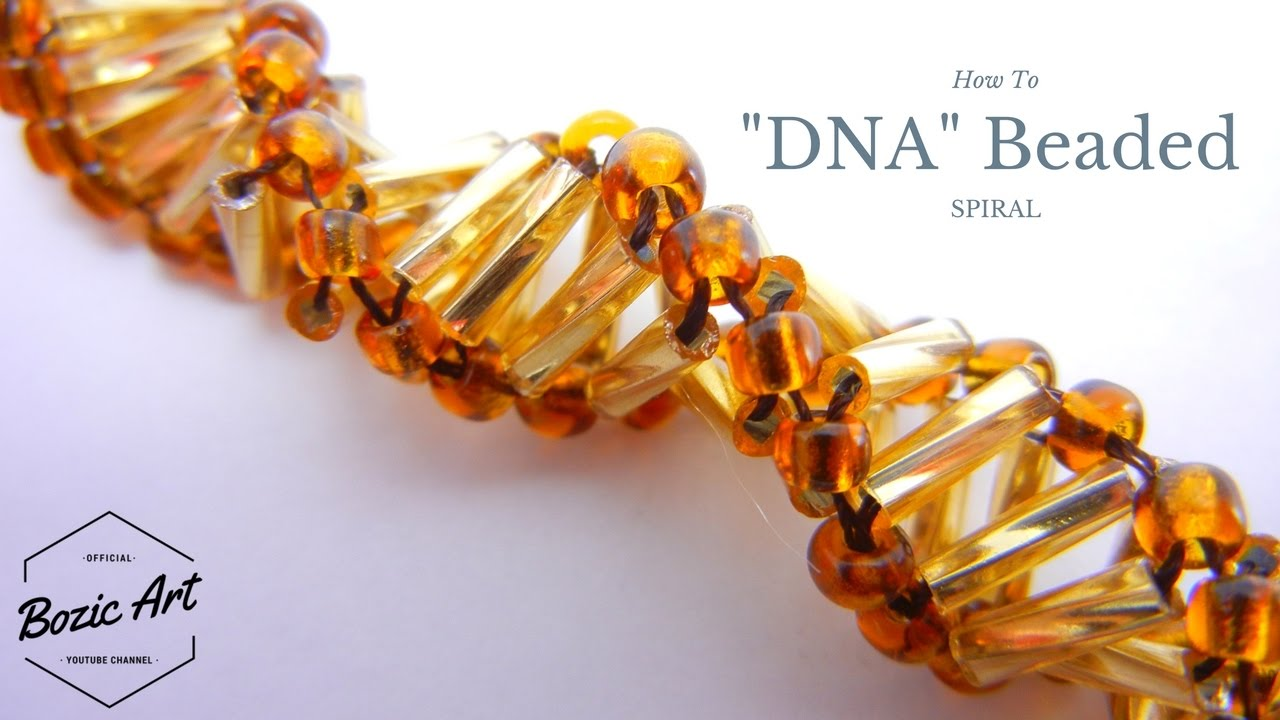 Quot Dna Quot Spiral Beaded Bracelet Beading Tutorial Youtube