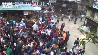 exclusive : le tremblement de terre filmé en direct..Nepal