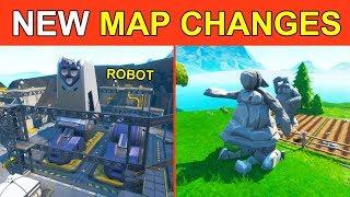 NEW *SECRET* MAP CHANGES! ROBOT FACTORY & STONE LOVE STORY! FORTNITE SEASON 9 STORYLINE STARTING!