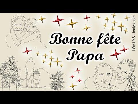 BONNE FÊTE PAPA - Jolie carte virtuelle fête des pères
