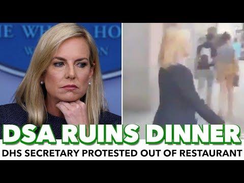 Democratic Socialists Ruin Homeland Secretary Kirstjen Nielsen's Dinner
