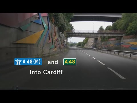 [GB] A48(M) and A48 into Cardiff