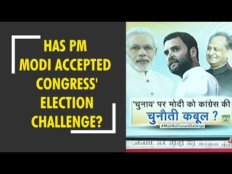 Has PM Modi accepted Congress' election challenge? Watch special debate