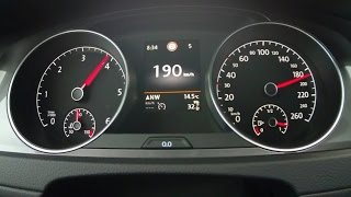 VW Golf Alltrack 2,0 TDI - acceleration 0-190 km/h and more dynamic tests