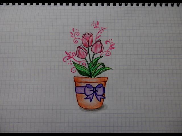 Букет цветов на 8 марта рисунок — img 2