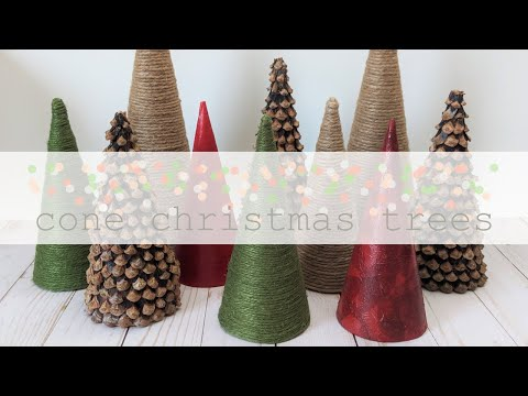 Cone Christmas Trees | DIY Christmas Holiday Decor