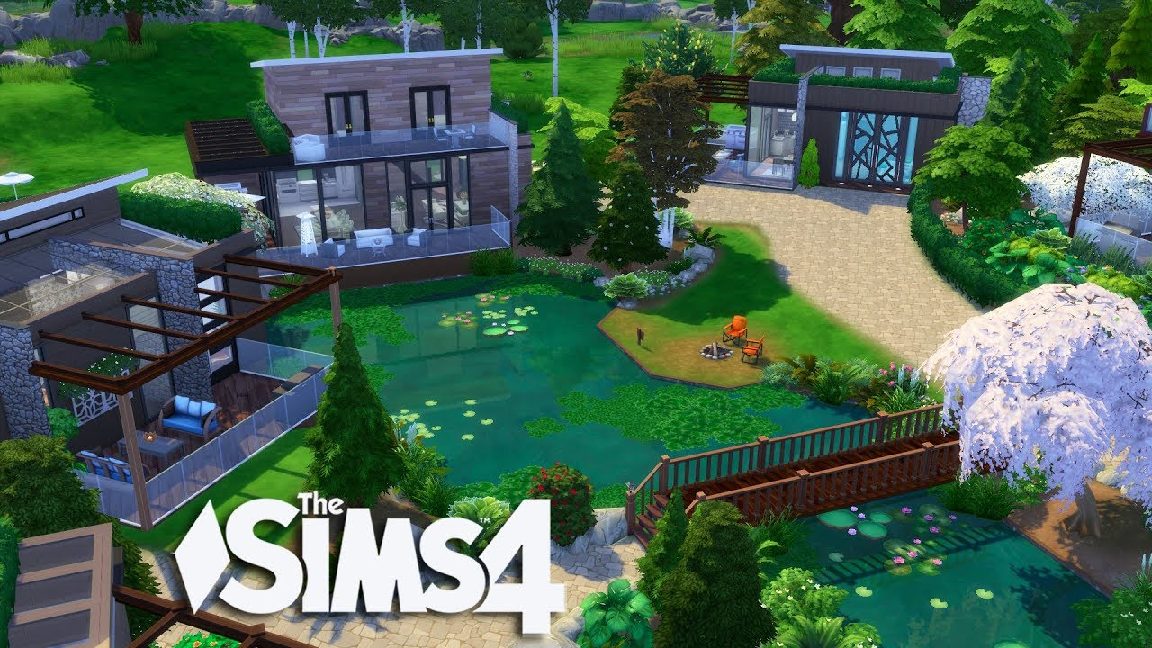 The Sims 4 - Luxury Getaway Cabins (House Build)