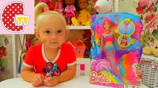 ❤ БАРБИ РУСАЛКА плаваем с куклой ❤ BARBI MERMAID swim with a doll