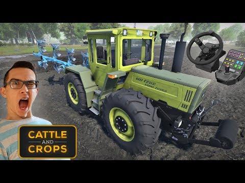 Cattle and Crops na Kierownicy Saitek !!! ☆ Orka w deszczu i Gleba 3D ㋡ MafiaSolec