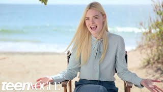 Summer Fun with Elle Fanning on the Set of Her Cover Shoot – Teen Vogue's The Cover