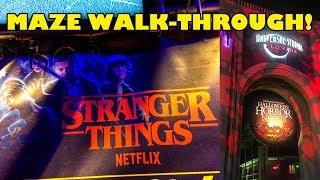 Stranger Things Maze POV Walkthrough Halloween Horror Nights 2018 Universal Studios Orlando 4K