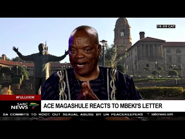 Professor Lesiba Teffo reacts to the Mbeki land letter