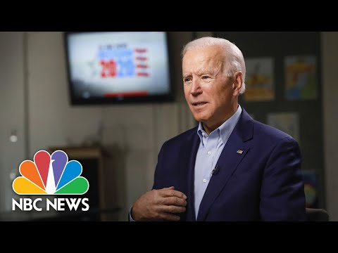 Full Biden: I Would Be 'Most Progressive' President In  History | Meet The Press | NBC News