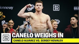 Canelo Alvarez Weighs In At 174.5 lbs And Looks POWERFUL