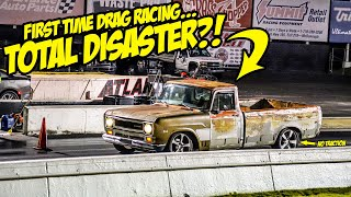 Corvette-Powered Junkyard Truck Goes DRAG RACING For The First Time (Complete DISASTER)